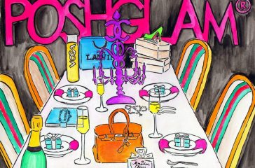 poshglam dinner facebook invite